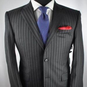 "BURBERRY London ""Bond St."" Black Modern 2Btn Suit"